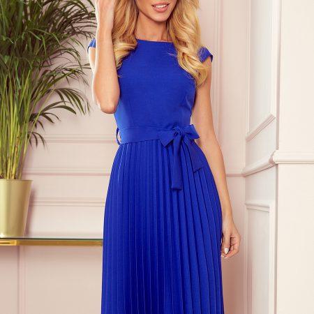 311-2 LILA Plisowana sukienka z krótkim rękawkiem - CHABROWA-1